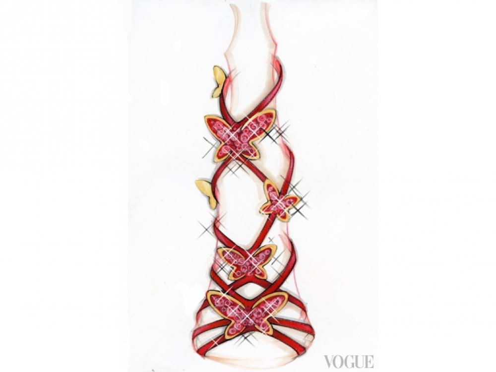  Рождественские босоножки Casadei