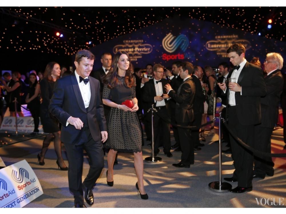 Герцогиня Кэмбриджская с Тимом Лоулером, исполнительным директором благотворительной организации SportsAid