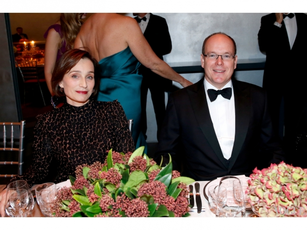 Кристин Скотт Томас и Князь Монако Альбер ІІ