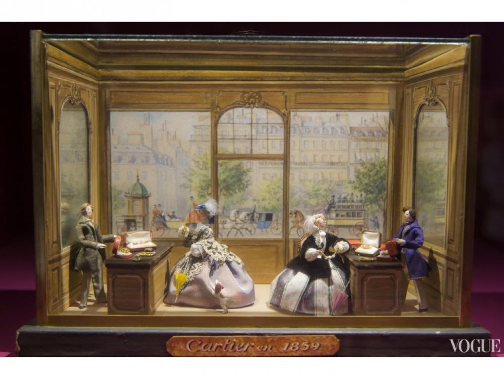 Миниатюрный макет парижского бутика Cartier, 1859 год