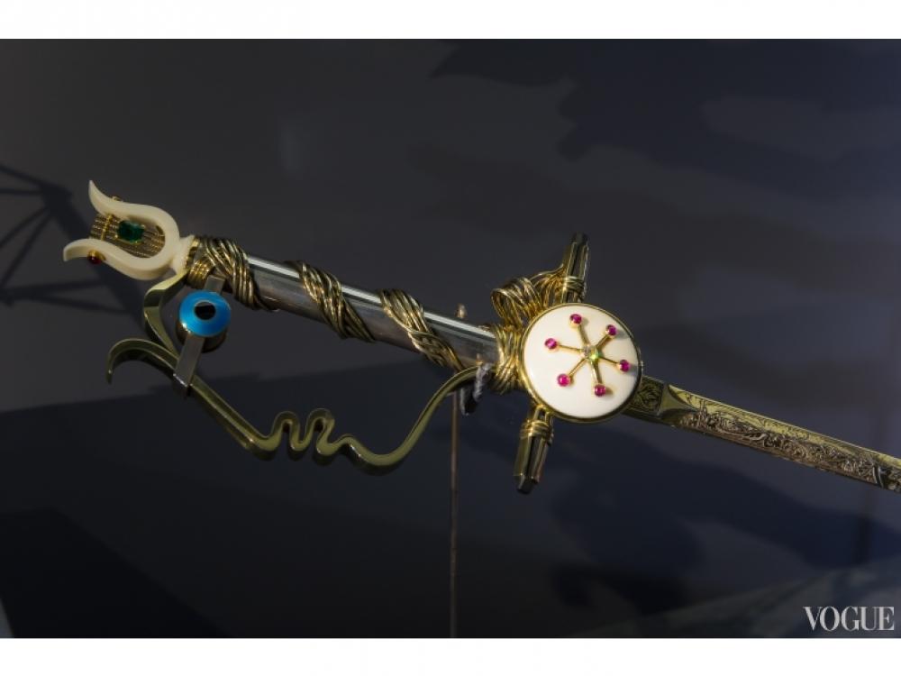 Меч, созданный Жаном Кокто, 1955 год, золото, серебро, изумруды, рубины, алмазы, слоновая кость, оникс