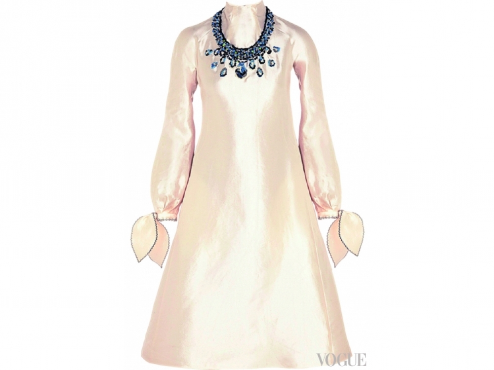 Шелковое платье с вышивкой, Vika Gazinskaya