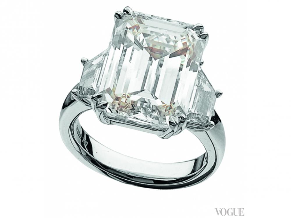 Кольцо, белое золото, бриллианты, Bellduc