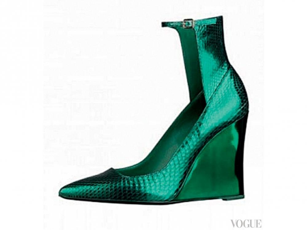 Туфли из металлизированной кожи, Burberry Prorsum