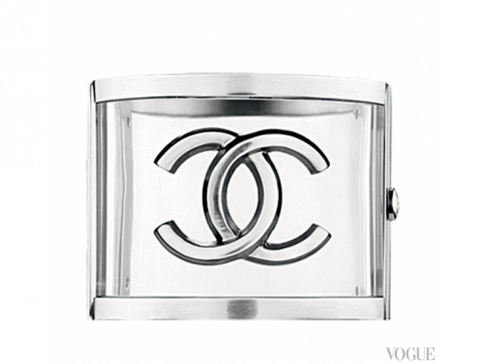 Браслет, металл, плексиглас, Chanel
