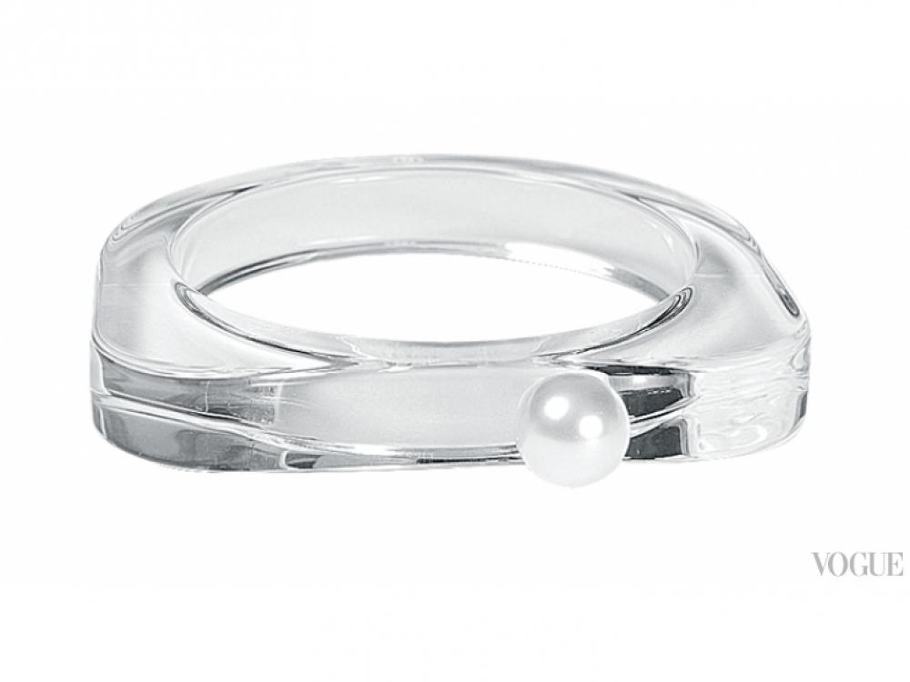 Браслет из пластика и металла, украшенный искусственной жемчужиной, MM6