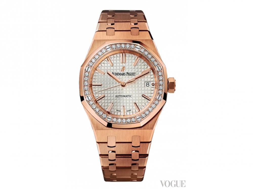 Часы Royal Oak Selfwinding, розовое золото, бриллианты, Audemars Piguet