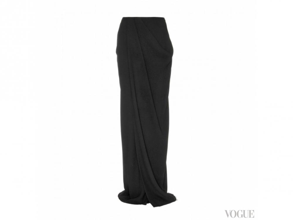 Lanvin|юбка с драпировкой