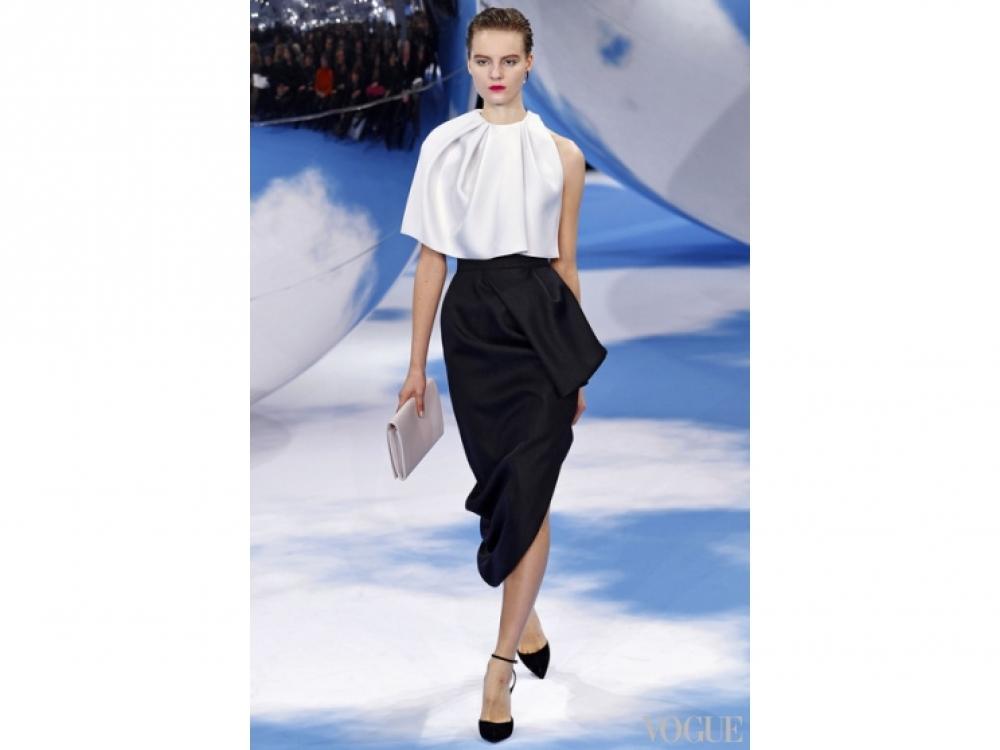 Christian Dior|юбка с драпировкой Christian Dior
