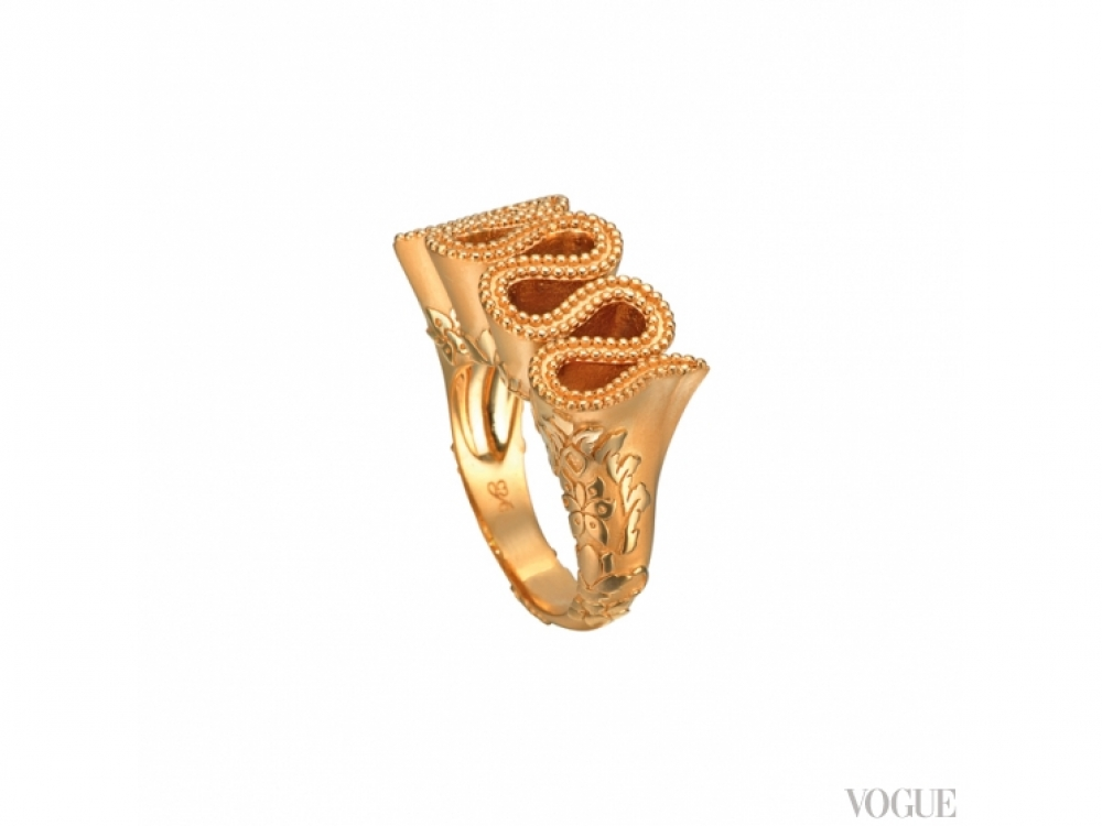 Кольцо Cervantes, желтое золото, Carrera y Carrera