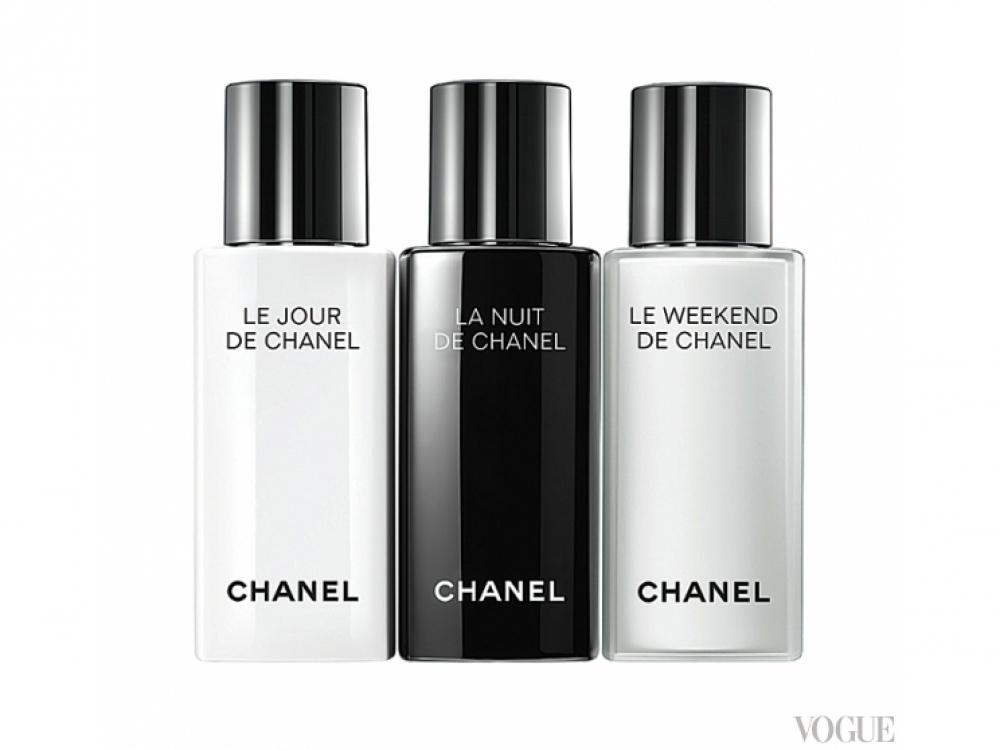 Линия средств, восстанавливающих кожу после недосыпания и перелетов, Le Jour, La Nuit, Le Weekend, Chanel. Можно подарить любимому, а пользоваться вдвоем