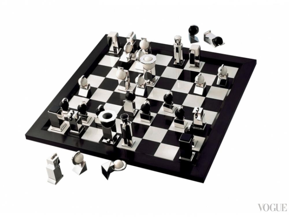 Шахматы, серебро, слоновая кость, эбеновое дерево, Puiforcat