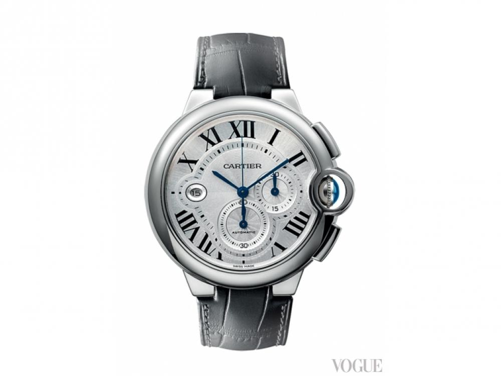 Часы Ballon Bleu, сталь, кожаный ремешок, Cartier