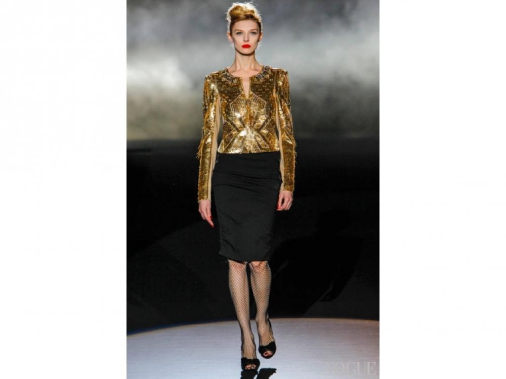 Badgley Mischka|Золотой цвет в одежде - Mischka
