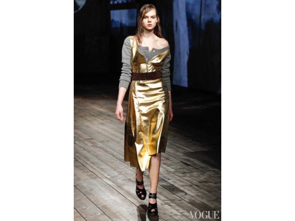 Prada|Золотой цвет в одежде - Prada