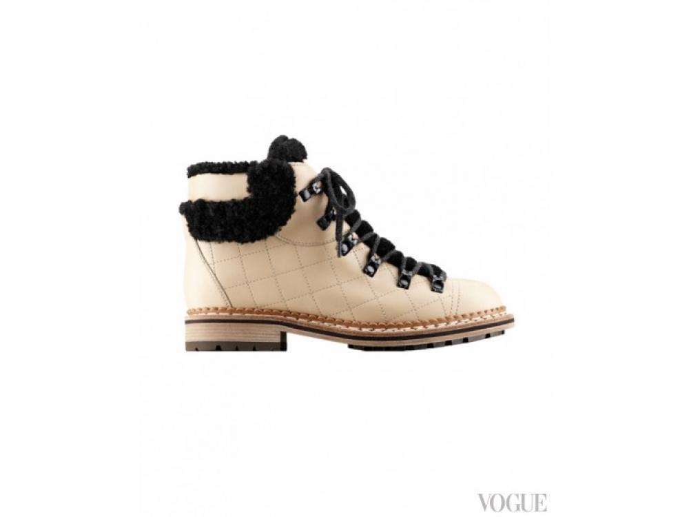 Chanel|Зимние ботинки Chanel
