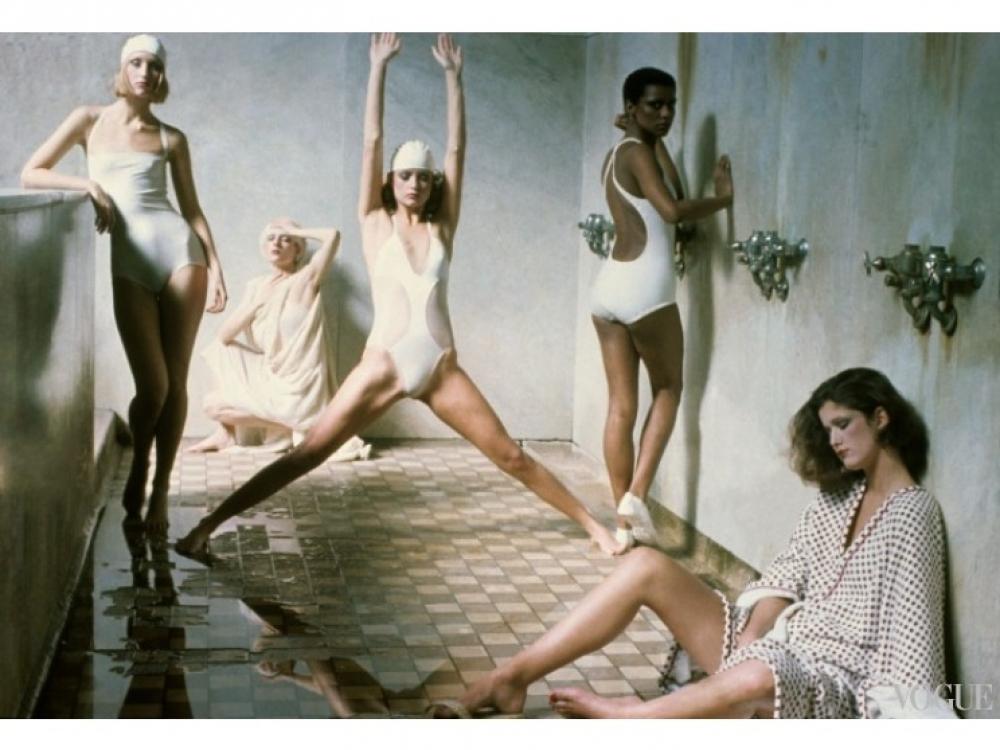 Дебора Турбевилль, американский Vogue, 1975 год