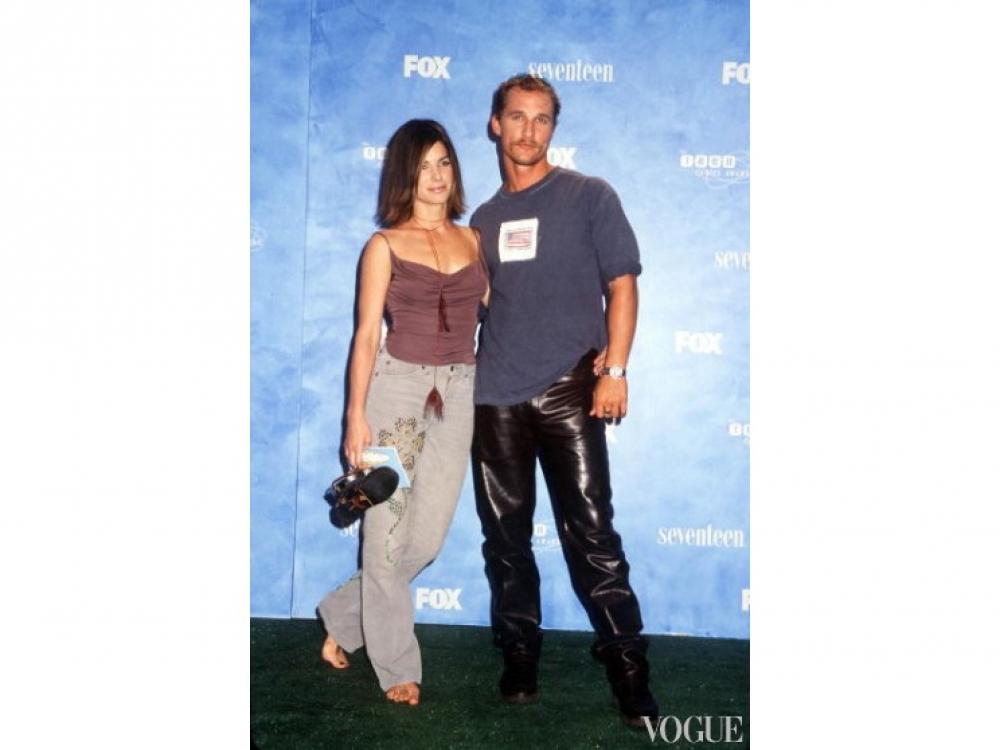 Мэттью МакКонахи и Сандра Буллок в Калифорнии (1999 год)