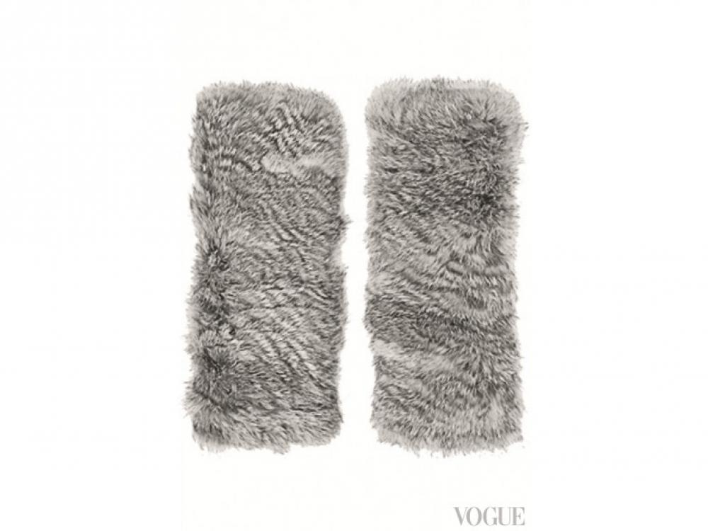 Нарукавники из кроличьего меха, Eugenia Kim