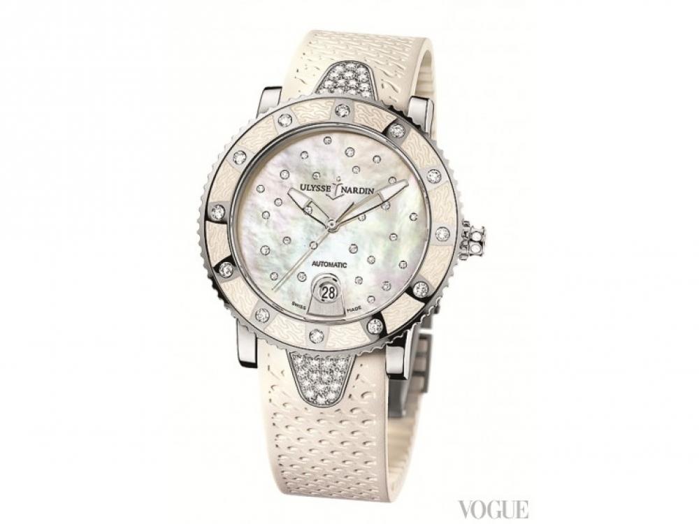 Часы Lady Diver Starry Night, сталь, бриллианты, каучук, Ulysse Nardin