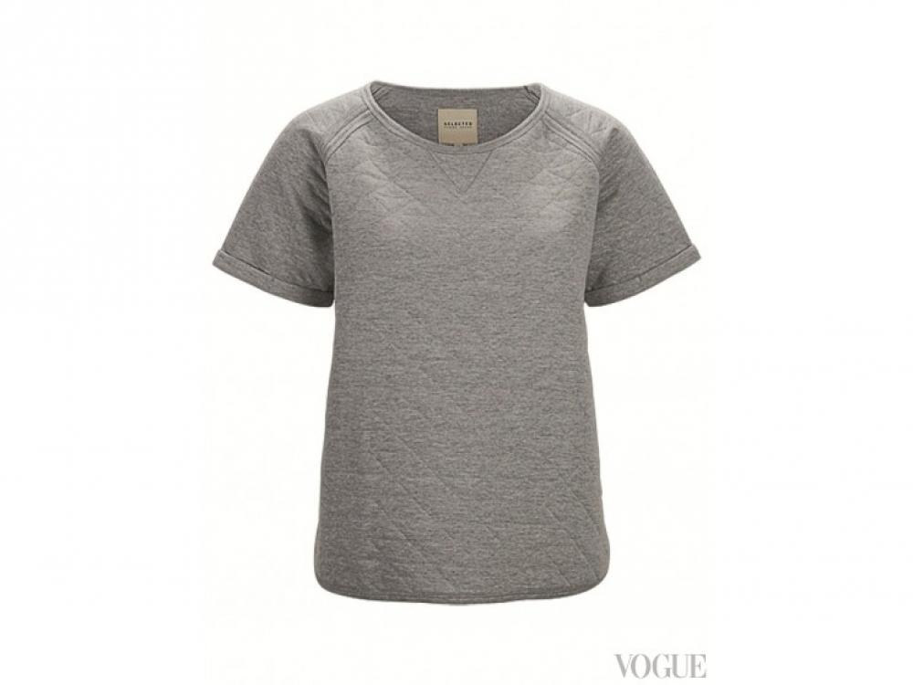 Стеганая футболка из хлопка, Asos