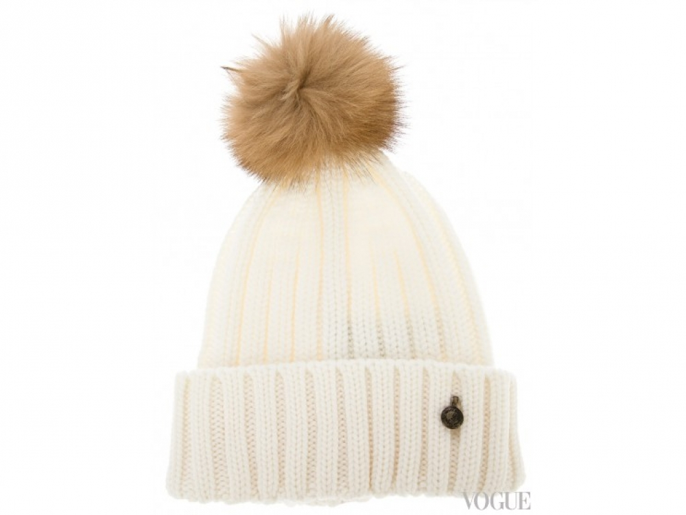 Шерстяная шапка с меховым помпоном, Woolrich