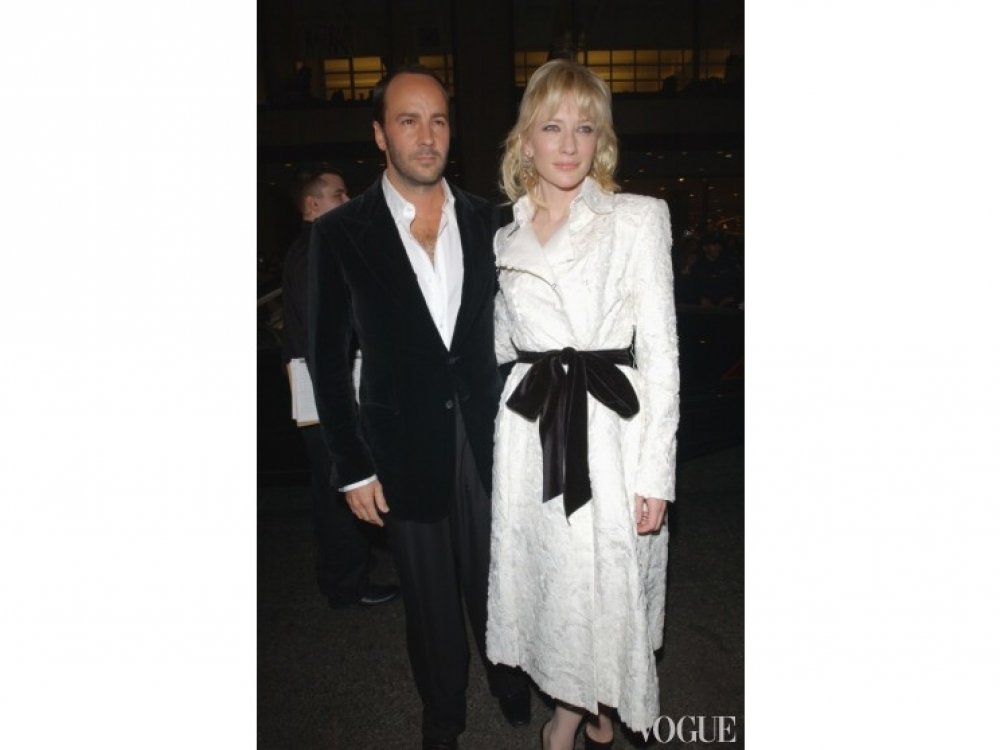 Кейт Бланшетт и Том Форд на вечеринке Vogue Fashion Awards (2002)