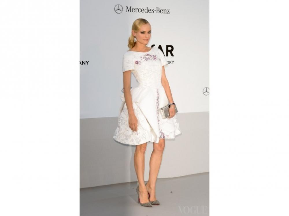 Диана Крюгер в Chanel на вечеринке amFar