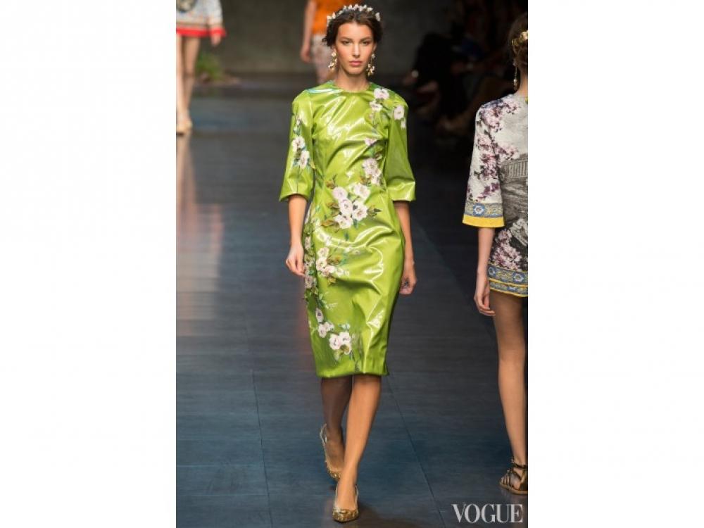 Кейт Кинг на показе Dolce&Gabbana весна-лето 2014