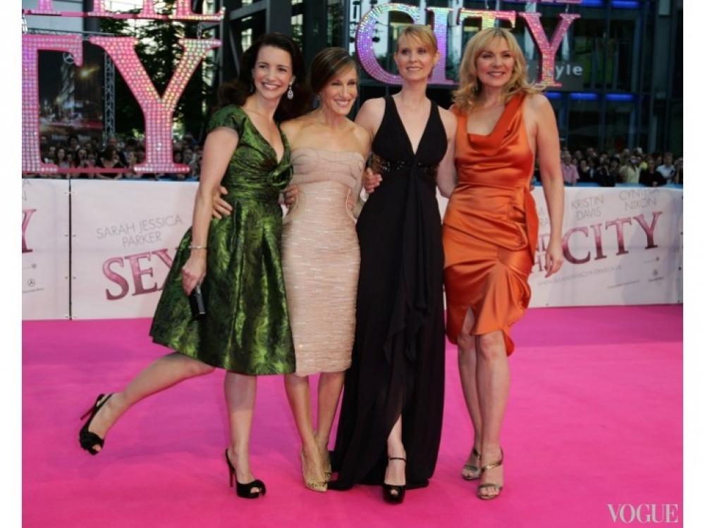 Сара Джессика Паркер, Ким Кэтролл, Синтия Никсон и Кристин Дэвис на премьере фильма в Берлине (2008)