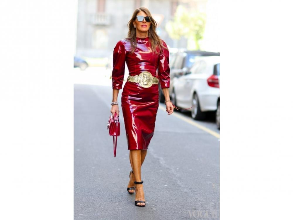 в платье Dolce&Gabbana