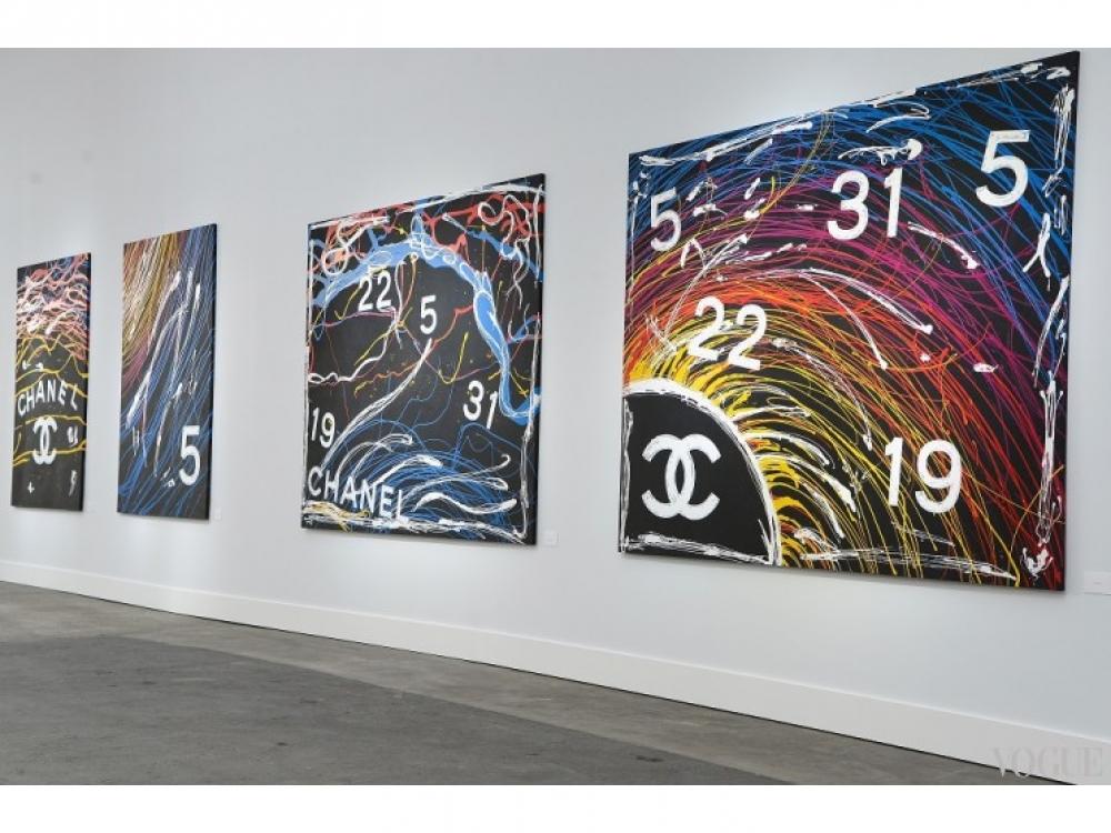 Декорации показа Chanel