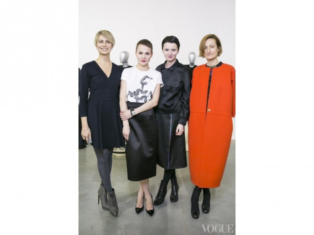 Катя Березницкая с командой Vogue Украина