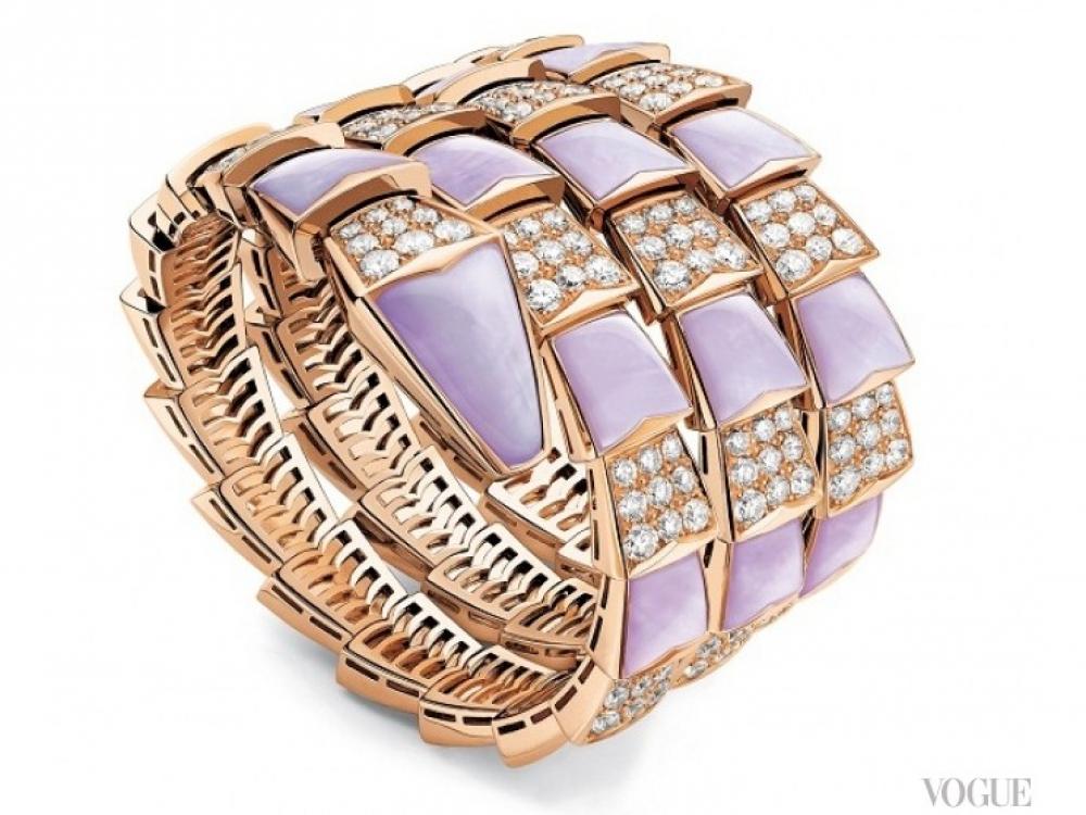 Браслет, золото, бриллианты, эмаль, Serpenti Jewerly Bvlgari