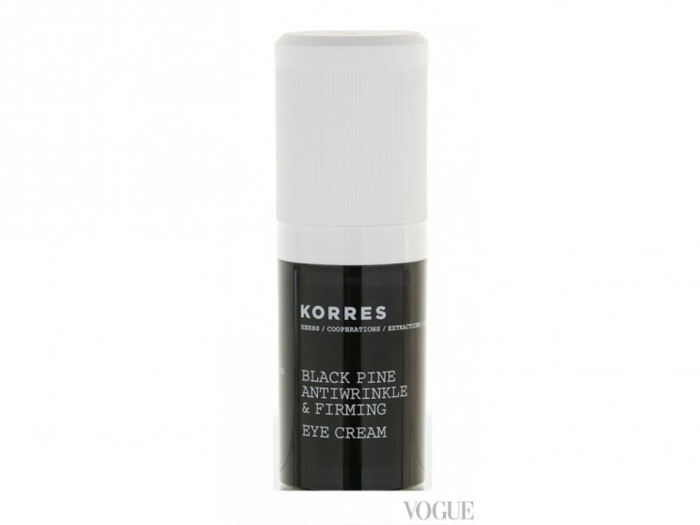 Антивозрастной укрепляющий, разглаживающий крем для кож вокруг глаз с экстрактом черной сосны Black Pine Antiwrinkle & Firming Eye Cream, Korres
