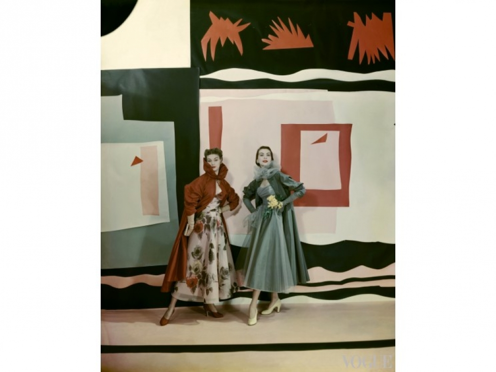Модели в нарядах Ceil Chapman, апрель, 1949 год / Фото: Cecil Beaton