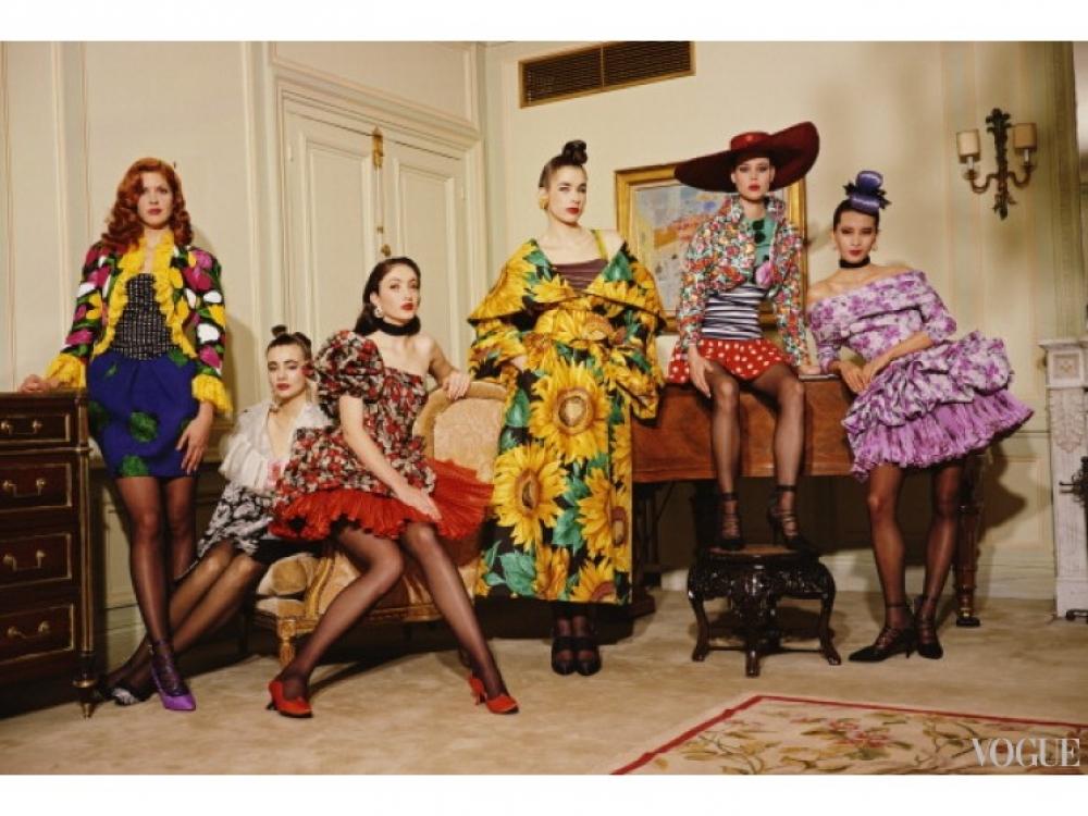 Модели в нарядах Hermes, 1988 год