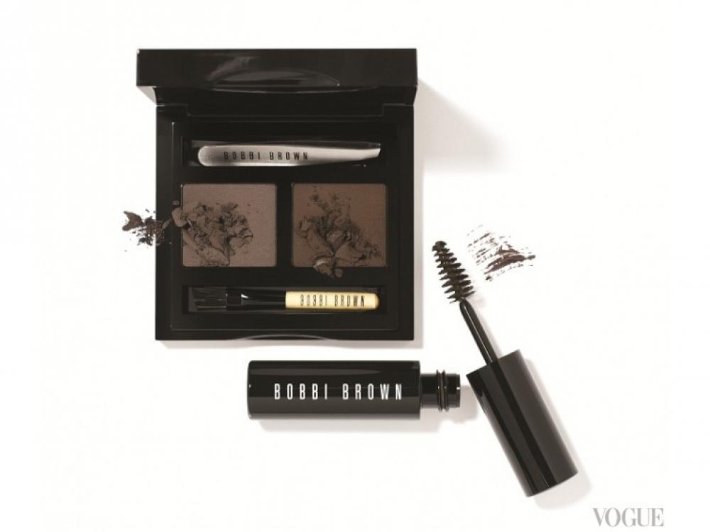 Набор для моделирования бровей Dark Brow Kit и тушь для бровей Natural Brow Shaper & Hair Touch Up, Mahogany, Bobbi Brown