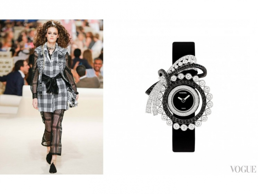 "Часы ""Couture"" CHANEL Fine Jewelry, белое золото, бриллианты"