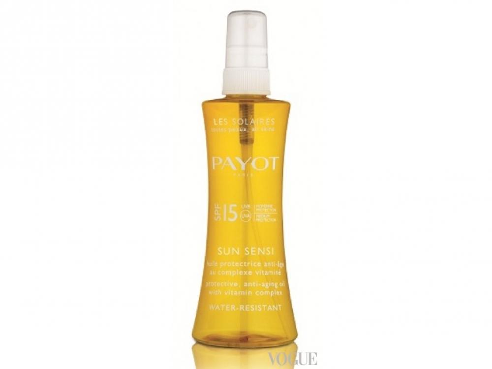 Защитное антивозрастное масло для тела, SPF15, Sun Sensi, Payot
