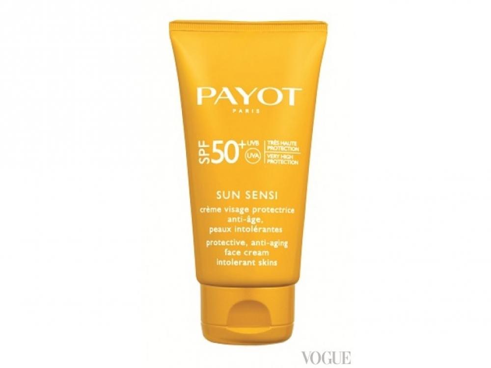 Солнцезащитный антивозрастной крем для особо чувствительной кожи Sun Sensi, SPF 50+Payot