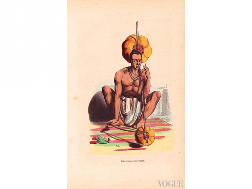 Индийская гравюра, 1843