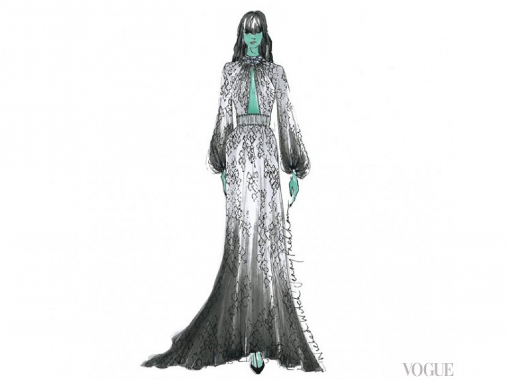 Платье Jenny Packham для Злой Ведьмы