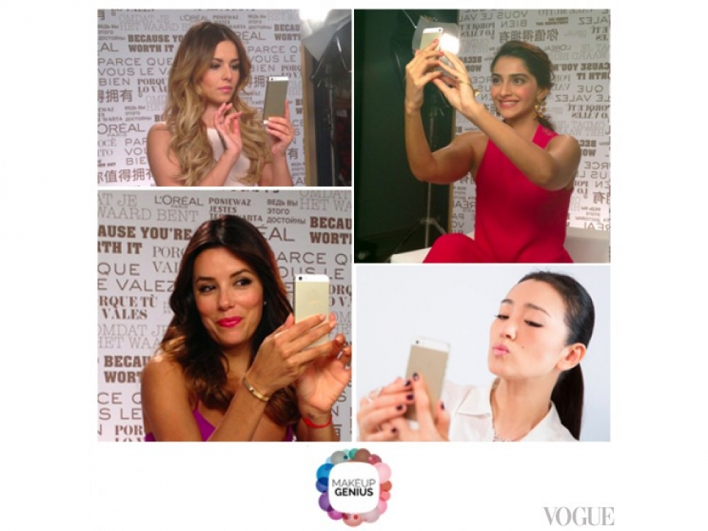 Звезды примерют макияж с помощью приложения Makeup Genius / L'Oreal Paris