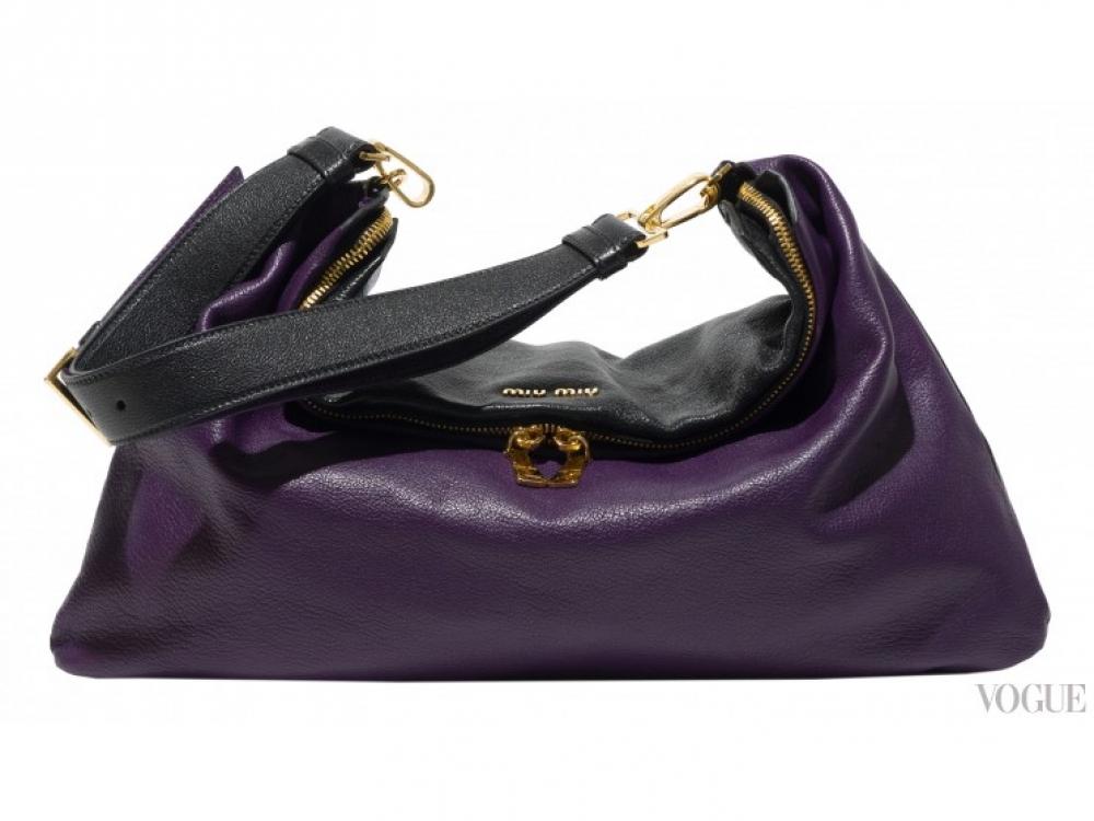 |фиолетово-черная сумка Miu Miu Cloud