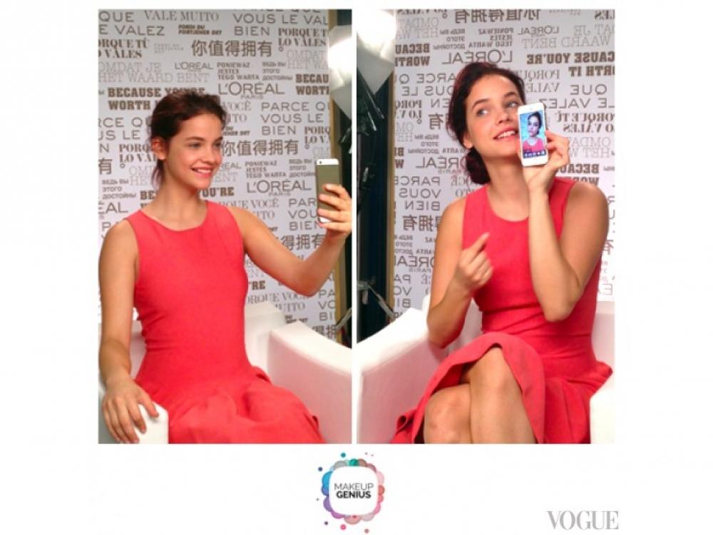 Барбара Палвин тестирует приложение L'Oreal Paris Make-Up Genius
