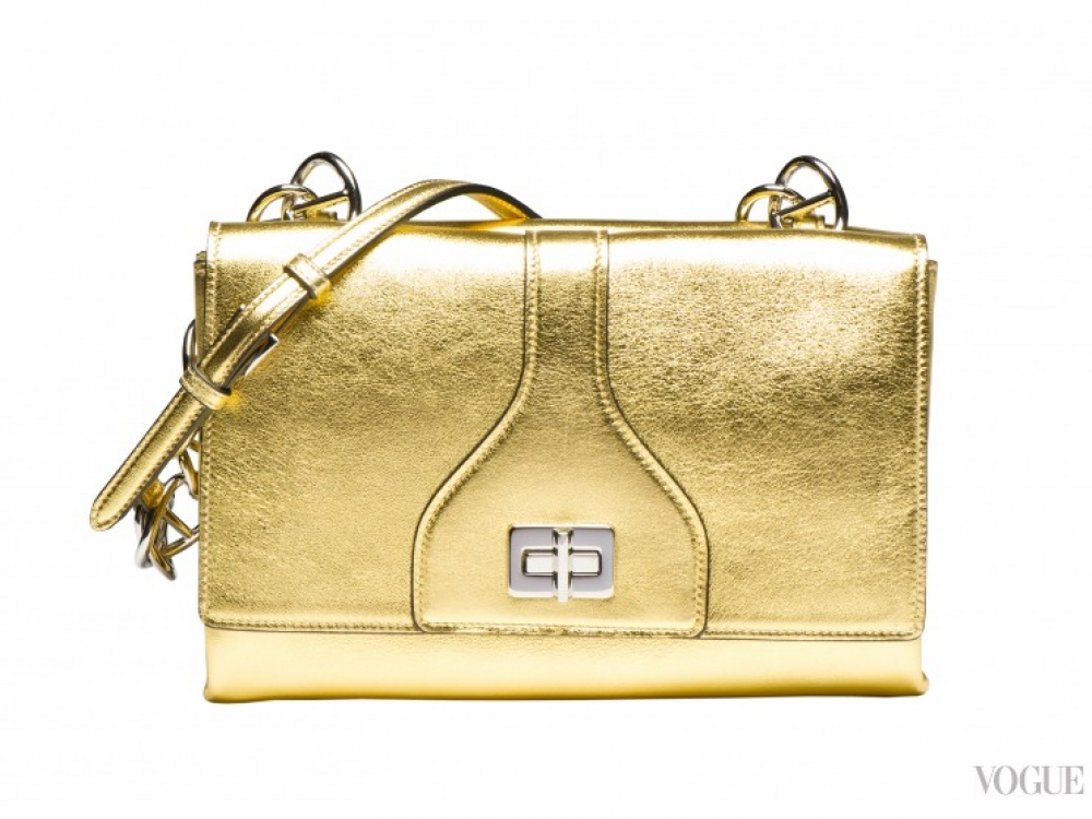 |золотая сумка Prada осень-зима 2014/2015