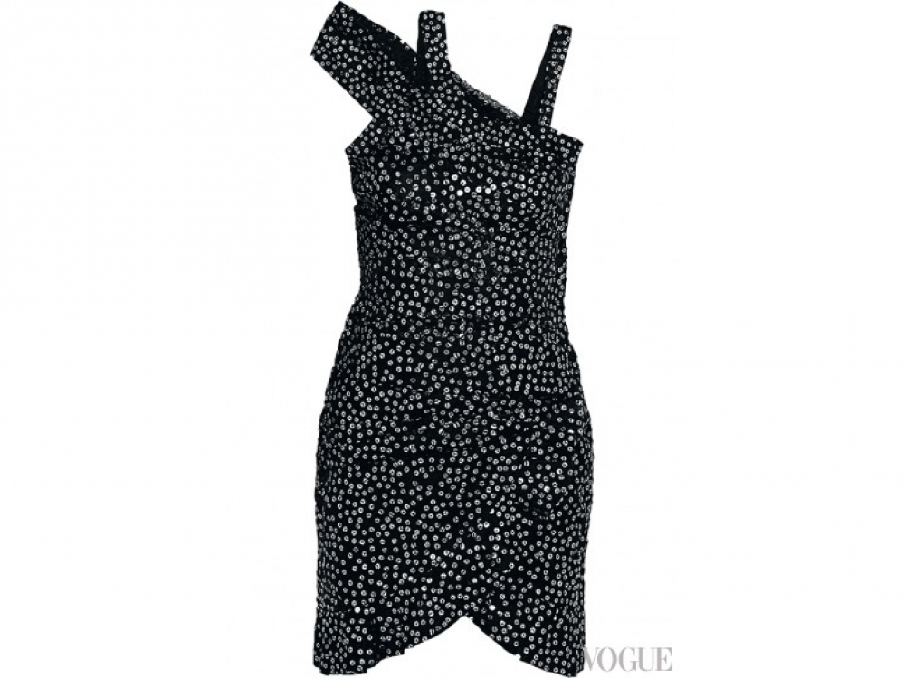 Платье из шелкового шифона с пайетками, Isabel Marant