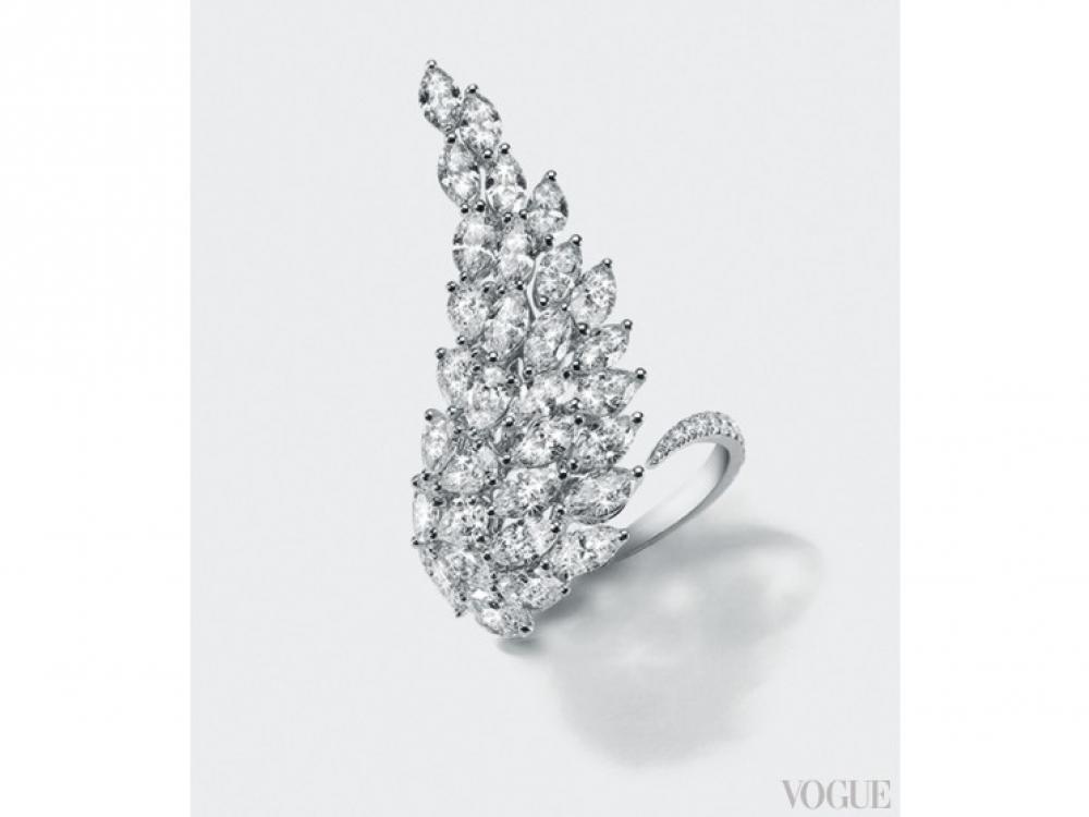 Кольцо Angel, белое золото и бриллианты, Messika