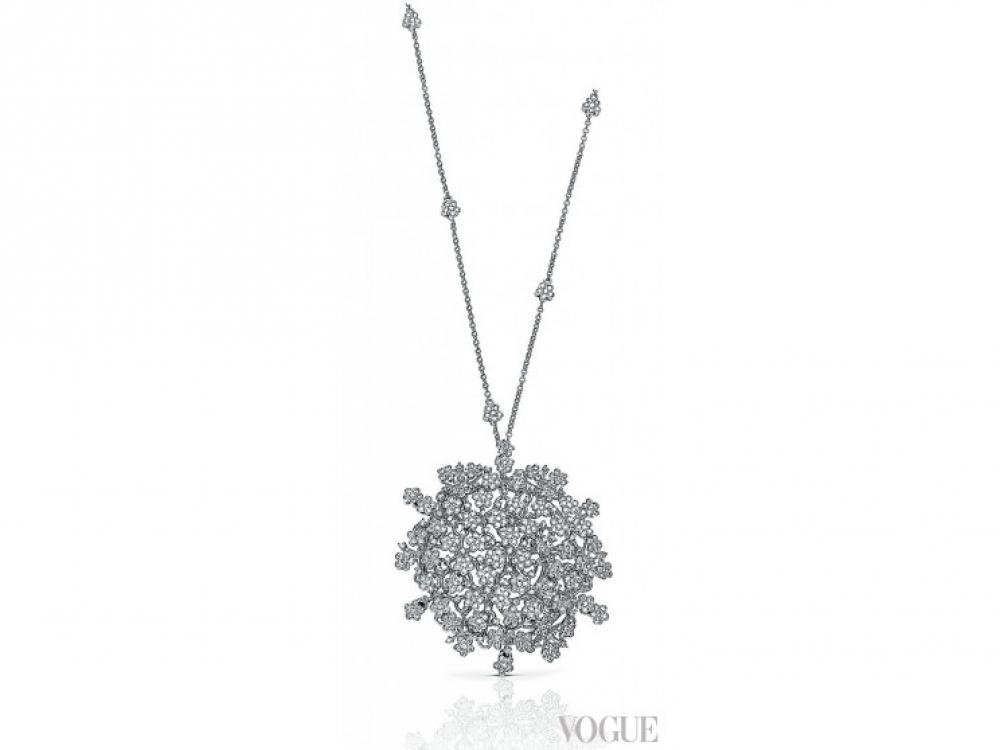 Колье Prato Fiorito, белое золото, бриллианты, Pasquale Bruni